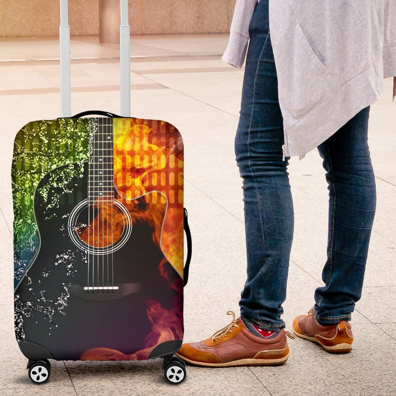 Incredible Classic Guitar Luggage Cover interestprint
