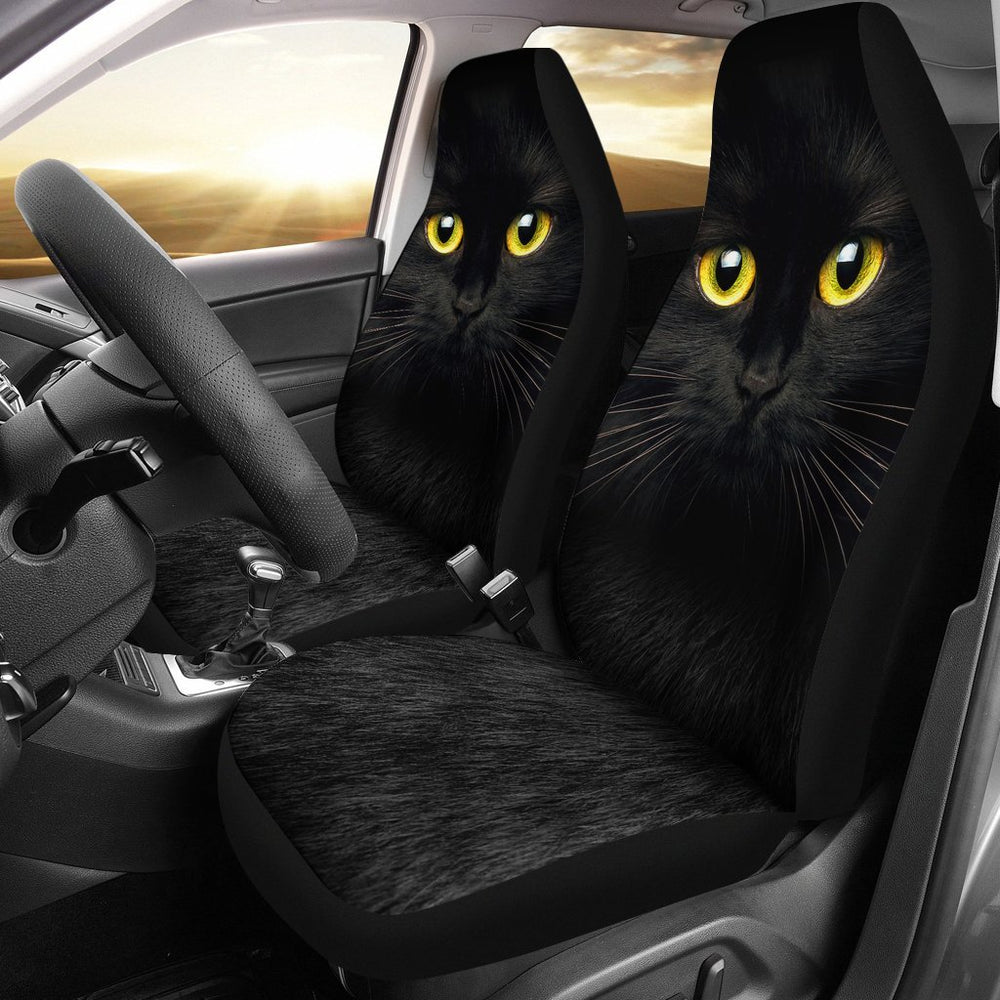 Inspirational Black Cat Car Seat Covers (Set Of 2) My Soul & Spirit