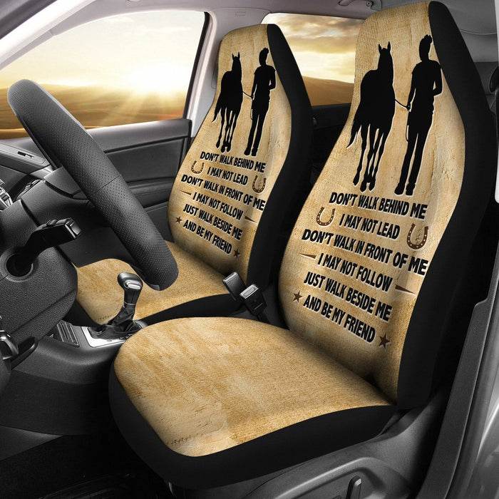 Inspirational Friendship Saying Of Horse And Women Car Seat Covers (Set Of  2) My 3d6563a94