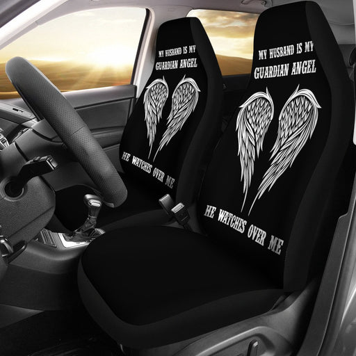 Inspirational Guardian Angel Car Seat Cover for Husband (Set Of 2) My Soul & Spirit