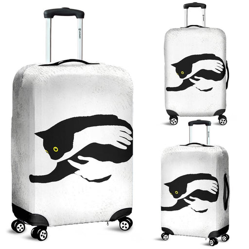 Inspirational Hand Holding Black Cat Luggage Covers My Soul & Spirit