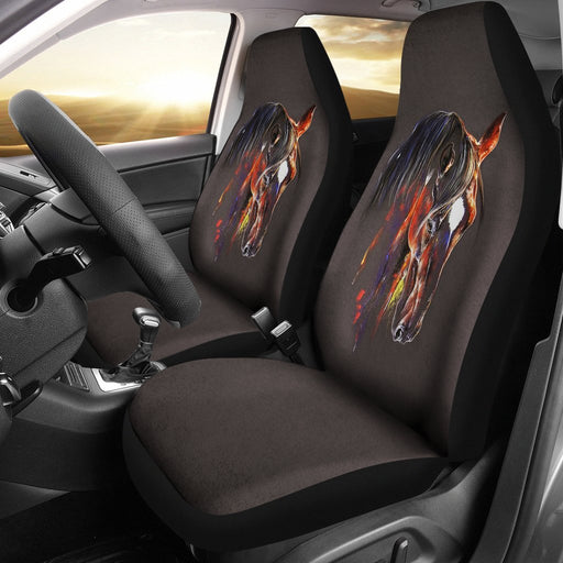 Inspirational Transparent Horse Car Seat Covers (Set Of 2) My Soul & Spirit