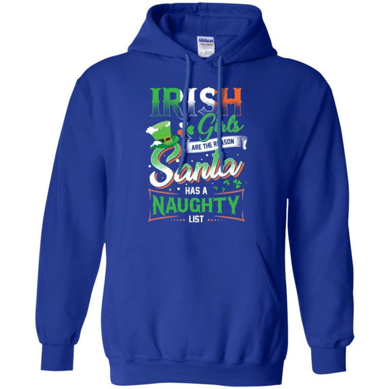 Irish Girls Are The Reason Santa Has A Naughty Funny Gifts Patrick's Day T-Shirt CustomCat