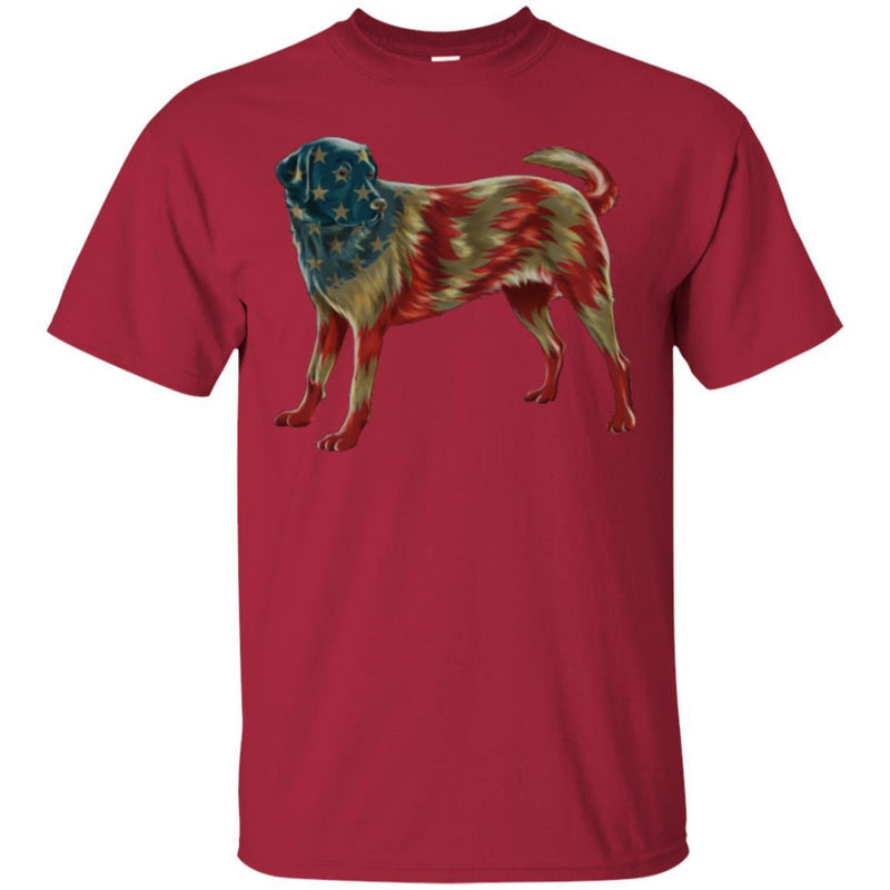 Labrador American Flag Funny Gift Lover Dog Tee Shirt CustomCat