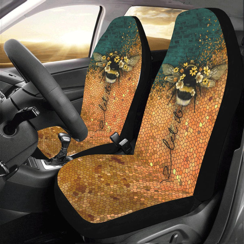 Let It Be Bee Car Seat Covers (Set of 2) interestprint