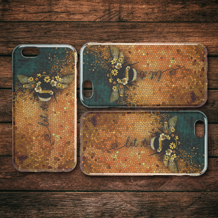 Let It Be Bee iPhone Case teelaunch