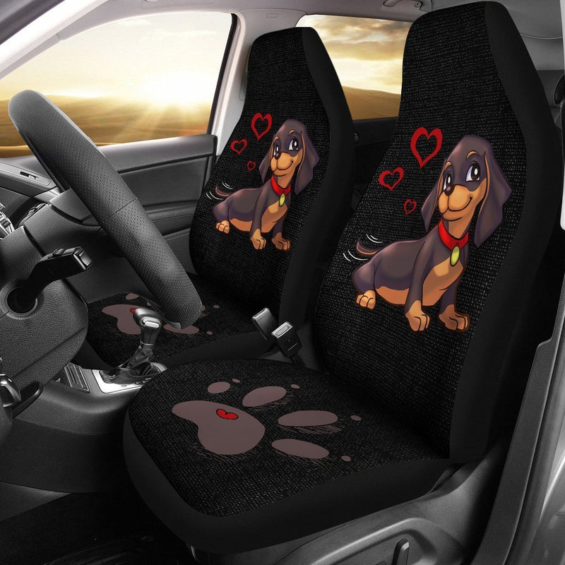 Lovely Dachshund Car Seat Covers (Set of 2) interestprint