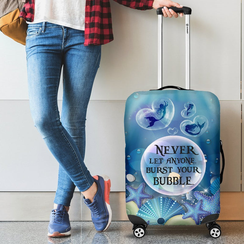 Lovely Mermaid Bubble Luggage Cover interestprint