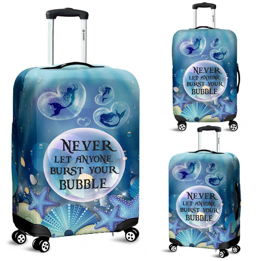 Lovely Mermaid Bubble Luggage Covers My Soul & Spirit