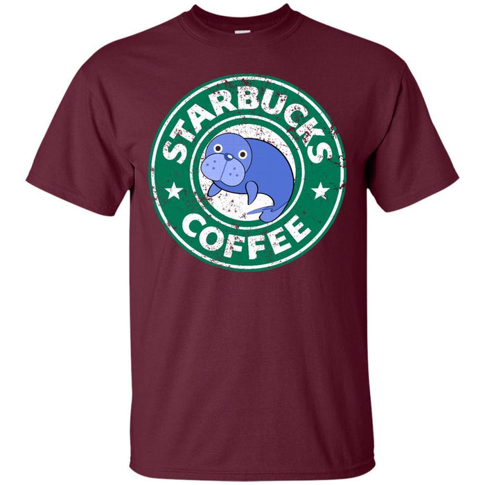 Manatee Coffee Tshirt CustomCat