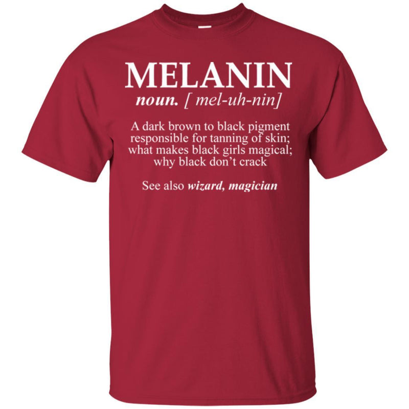 Melanin A Dark Brown To Black Pigment Responsible For Tanning Of Skin See Also Wizard Magician Shirt CustomCat
