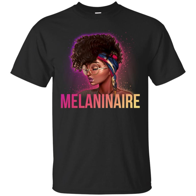 Melaninaire Black History Month T-Shirt for Women African Pride Shirts CustomCat
