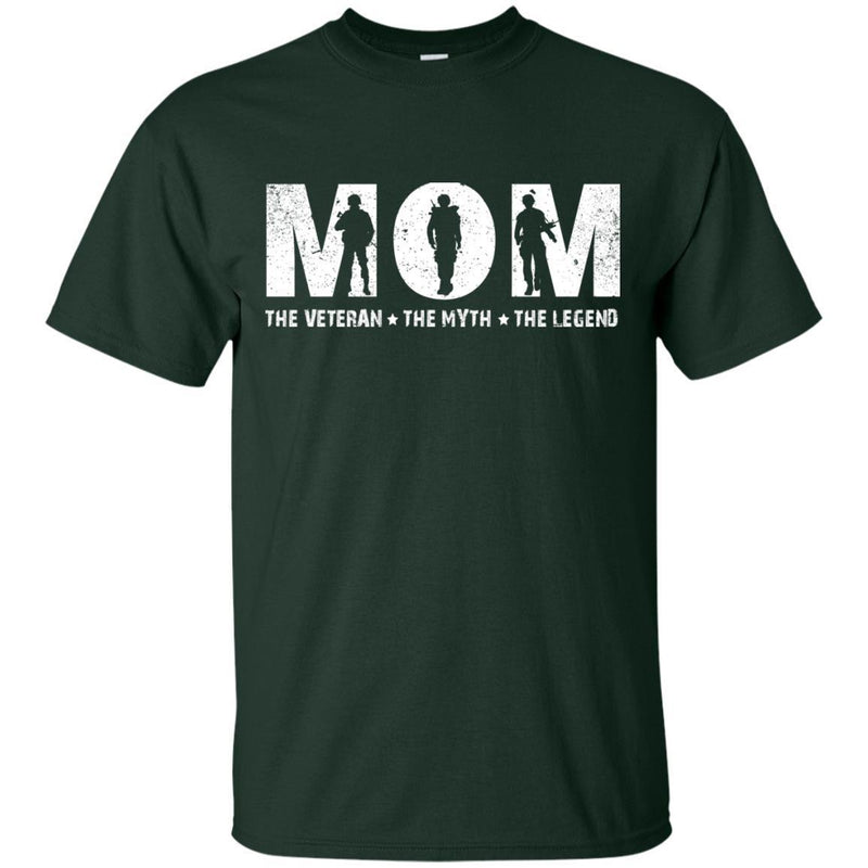 MOM The Veteran The Myth The Legend Veterans T-shirts & Hoodie for Veteran's Day CustomCat