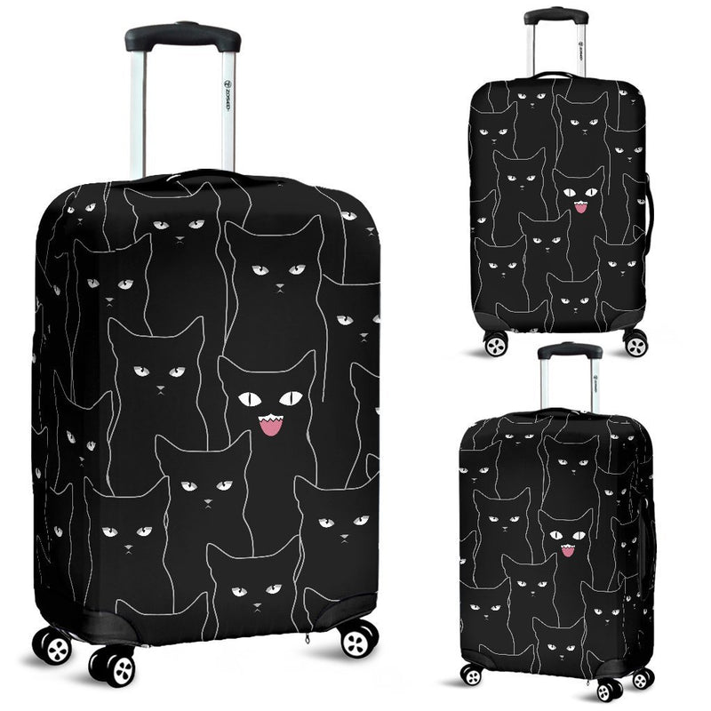 Multi Black Cats Luggage Cover interestprint