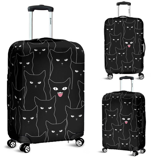 Multi Black Cats Luggage Covers My Soul & Spirit