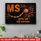 Multiple Sclerosis Canvas Gets On My Nerver Canvas Wall Art Decor