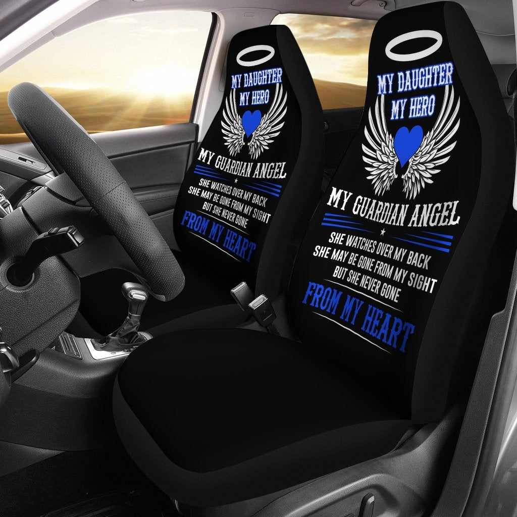 My Daughter My Hero My Guardian Angel Car Seat Cover Set Of 2
