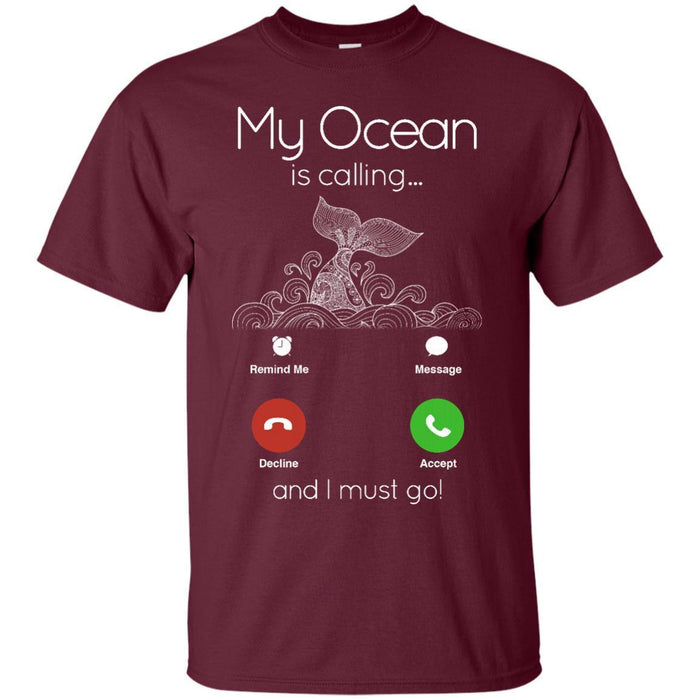 My Ocean Is Calling T-shirt & Hoodie for Mermaids CustomCat