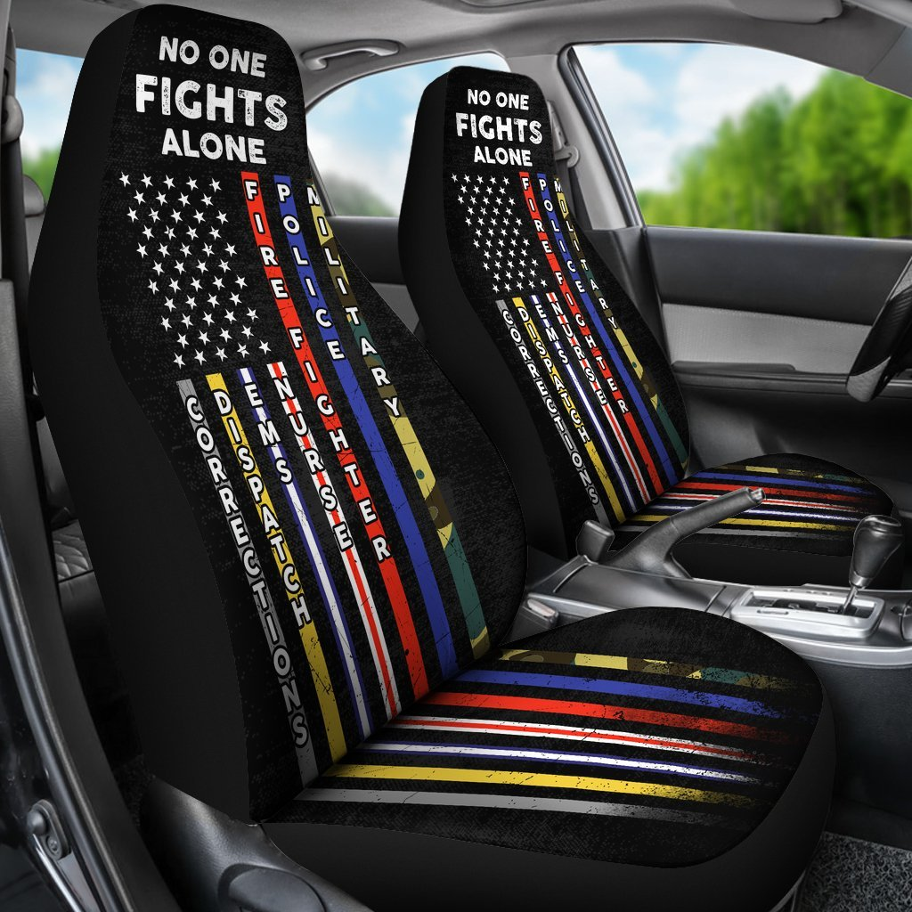 No One Fights Alone Unique Design Of Car Seat Covers Set Of 2
