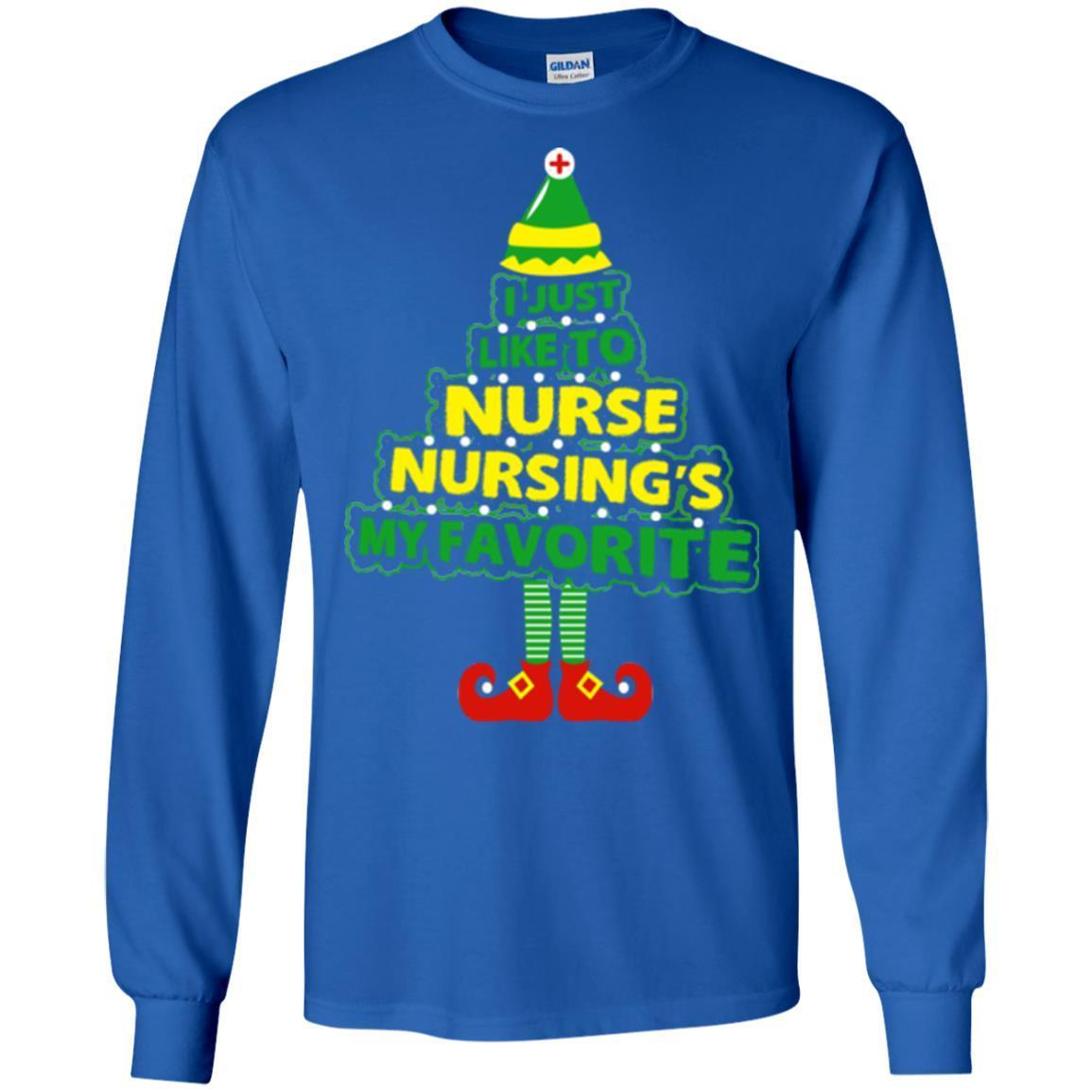 I Just Like To Nurse Nursing\'s My Favorite Medical Christmas shirts ...