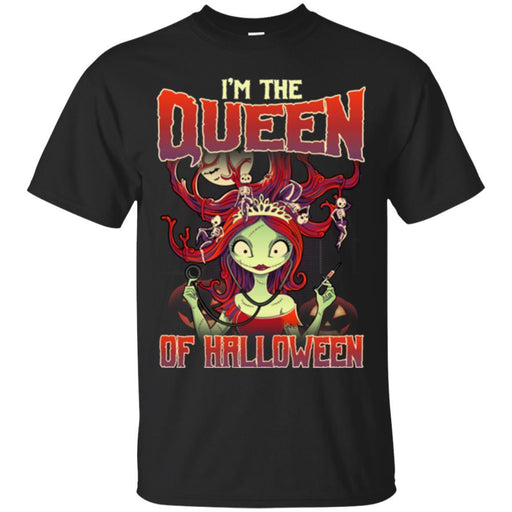 Nurse T-Shirt I'm The Queen Of Halloween Sally Nurse Funny Gift Tees Medical Shirts CustomCat
