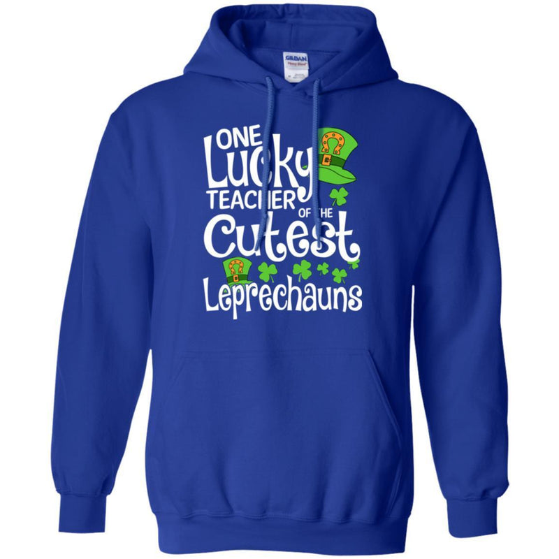 One Lucky Teacher Of The Cutest Leprechauns Shamrock Funny Gifts Patrick's Day T-Shirt CustomCat