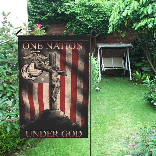 "One Nation Under God - 12"" x 18"" Garden Flag 12"" x 18""(Twin Sides) interestprint"