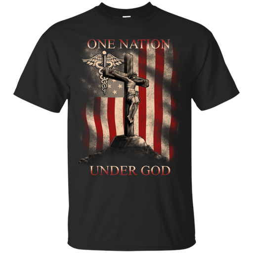 One Nation Under God Nurse Version Tshirt CustomCat