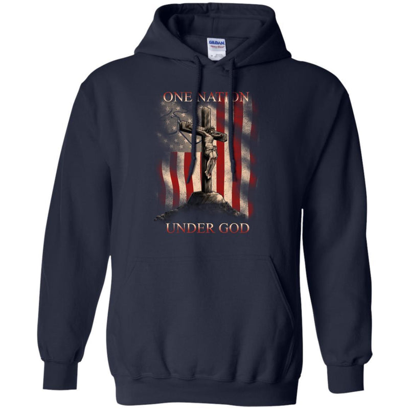 One Nation Under God Veterans T-shirts & Hoodie for Veteran's Day CustomCat