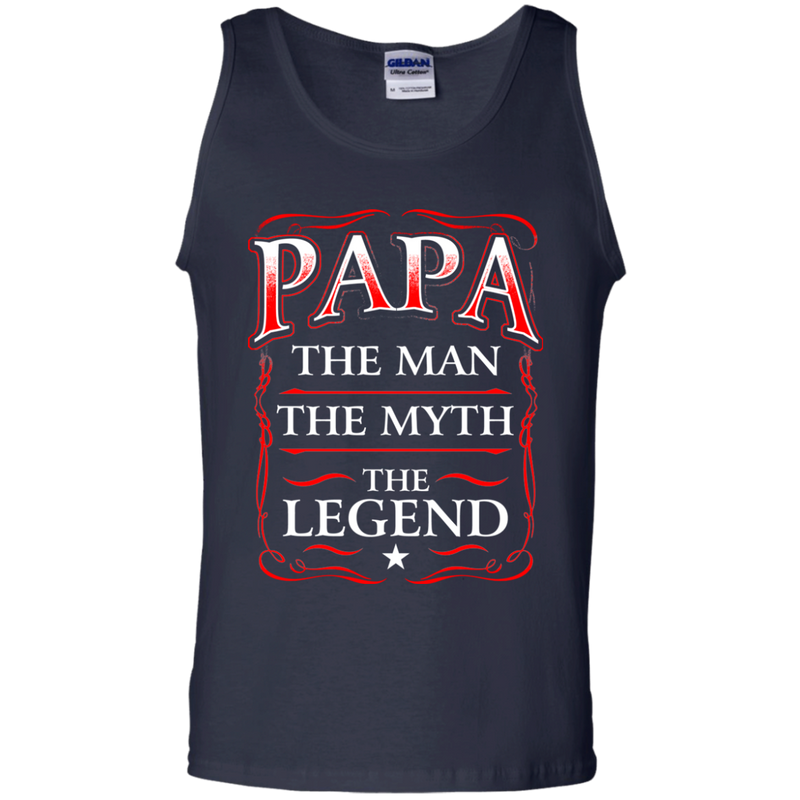 Papa The Man The Myth The Legend Funny T-shirts CustomCat