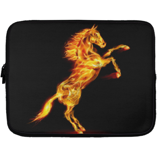 Running Horse Fire Laptop Cover CustomCat