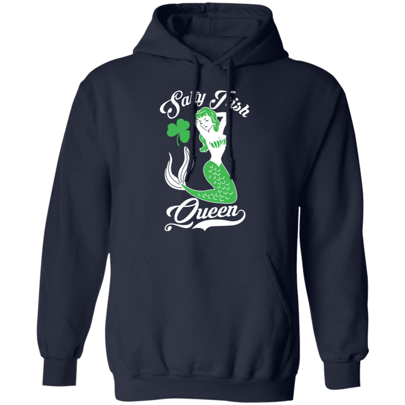 Salty Irish Mermaid Queen Funny Mermaid T-shirt CustomCat