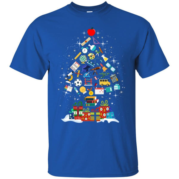 science teacher t shirt merry christmas tree science tools funny gift book lovers shirts