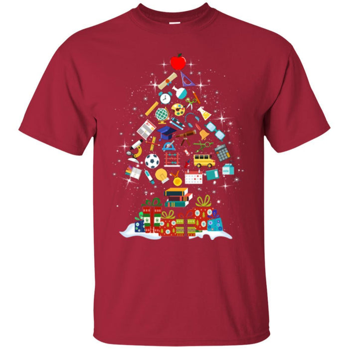 Teacher Christmas Shirts.Science Teacher T Shirt Merry Christmas Tree Science Tools Funny Gift Book Lovers Shirts