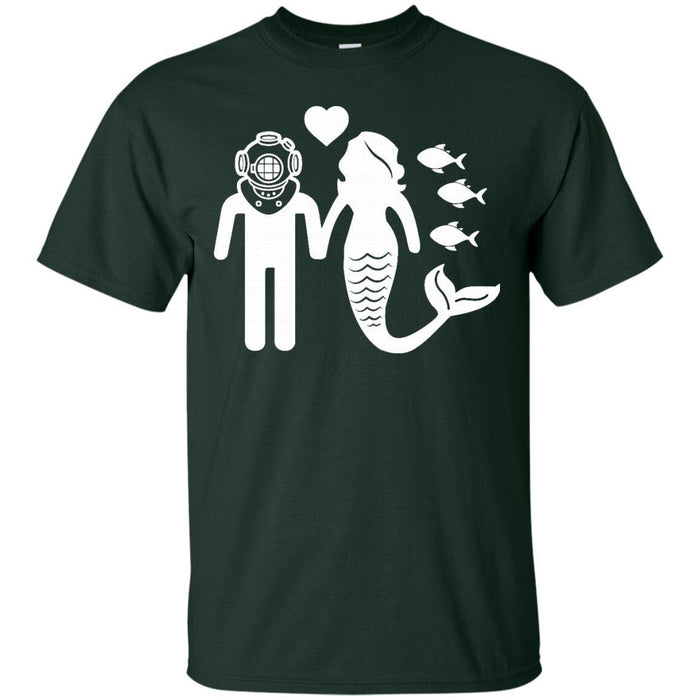 Scuba Mermaid t-shirt CustomCat