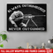 Sniper Soldier Canvas - Always Outnumbered Never Outgunner Canvas Wall Art Decor