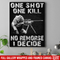 Sniper Soldier Canvas - One Shot One Kill No Remorse I Decide Canvas Wall Art Decor
