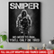 Sniper Soldier Canvas - Sniper No Need To Run You Will Only Die Tired Canvas Wall Art Decor