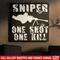 Sniper Soldier Canvas - Sniper One Shot One Kill Canvas Wall Art Decor