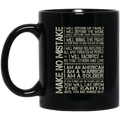 Soldier Coffee Mug Make No Mistake I Will Defend My Family I Am A Warrior A Soldier 11oz - 15oz Black Mug CustomCat