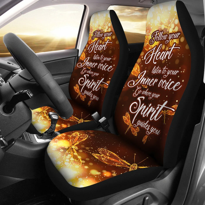 Excellent Sparkly Be Yourself Dragonfly Car Seat Covers Set Of 2 Uwap Interior Chair Design Uwaporg