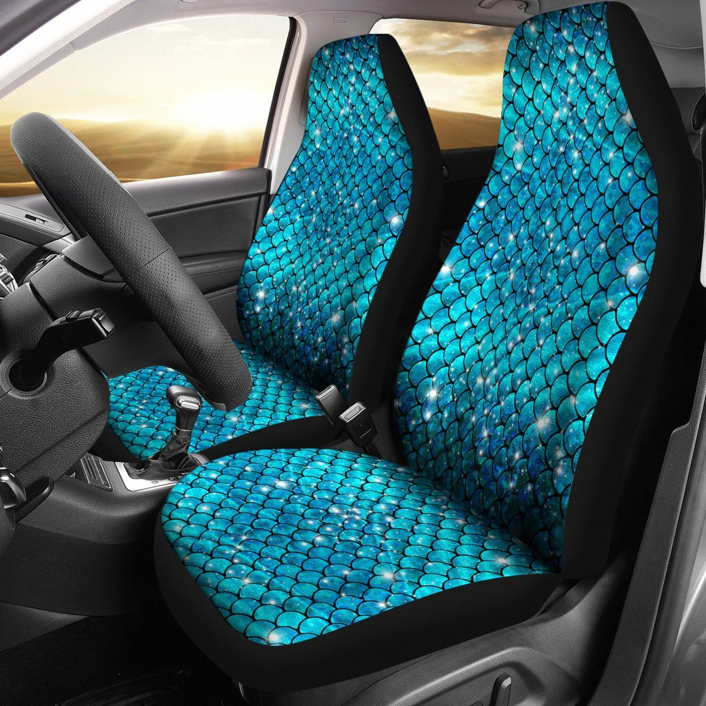 Sparkly Mermaid Scale Car Seat Covers Set Of 2 My Soul Spirit