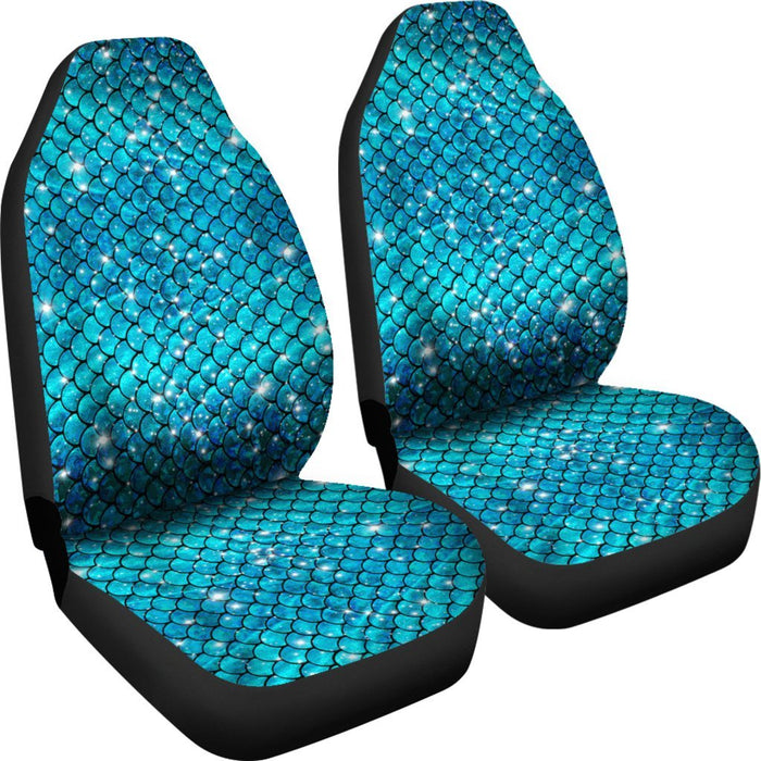 Sparkly Mermaid Scale Car Seat Covers (Set Of 2) My Soul & Spirit