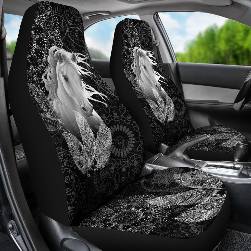 Spirit Of Horse Native American Car Seat Covers Set 2 My Soul