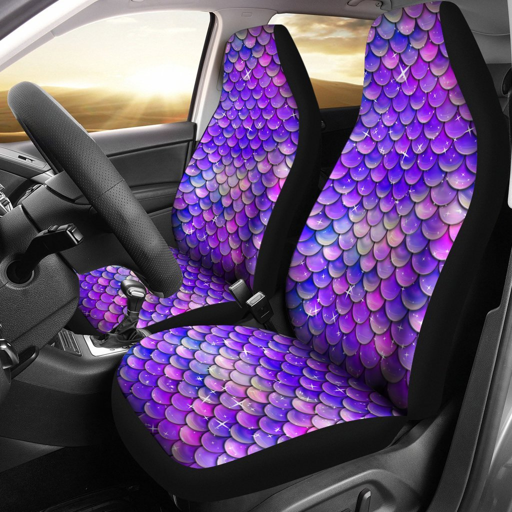 Splendid Purple Mermaid Scale Car Seat Covers Set Of 2 My Soul Spirit