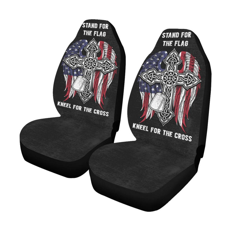 Stand For The Flag Kneel For The Cross Car Seat Covers (Set of 2)