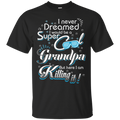 super cool grandpa funny family t-shirts CustomCat