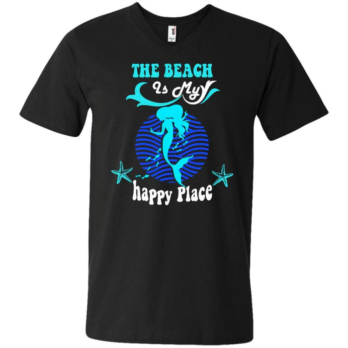 The Beach Is My Happy Place T-shirt & Hoodie For Mermaids CustomCat
