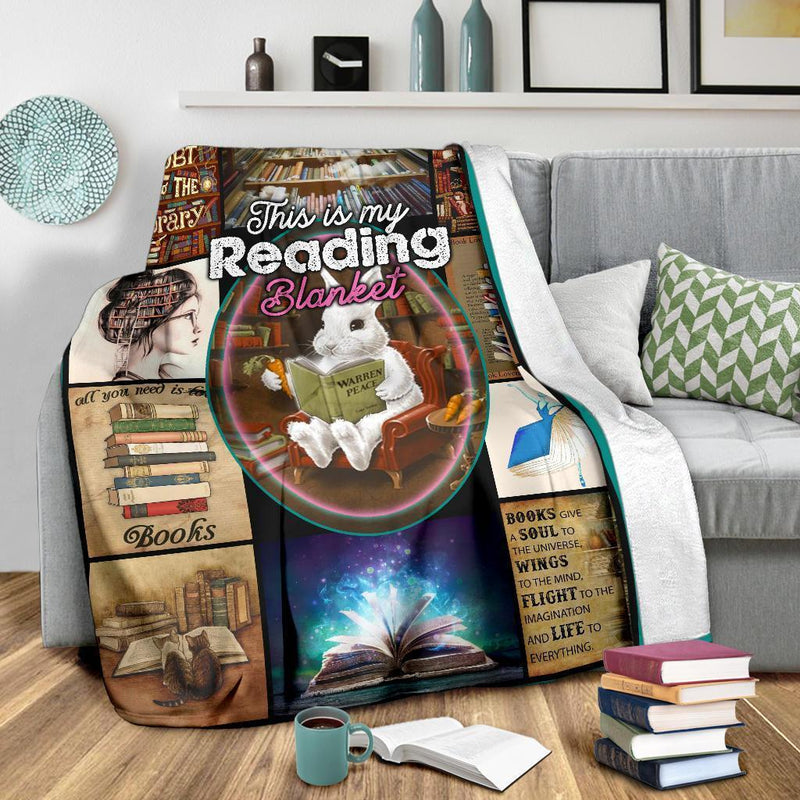 This Is My Reading Blanket For Books Lover Fleece Blanket interestprint