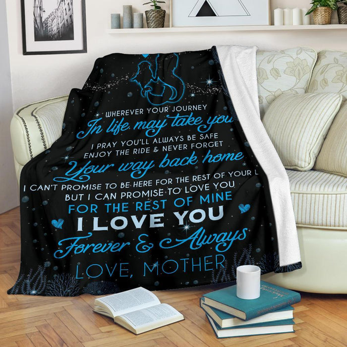To My Daughter Love Mother Mermaid Blanket My Soul and Spirit